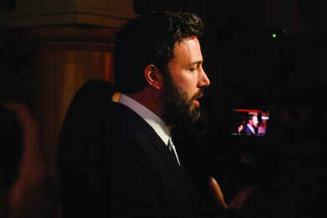 Ben Affleck being interviewed by Royal Report just before accepting the Modern Master Award on January 25.