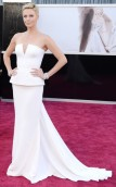 With her tall skinny frame, and her pixie haircut, she definitely played up her feminine side in this structured white dress. I am generally not a fan of strapless, but this gown was just so special, it had to be included in this list.