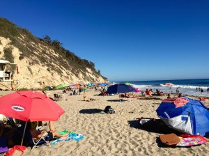 (Milan Norling/The King's Page) A busy day at Hendry's Beach is evidence of the crowded Santa Barbara beaches.